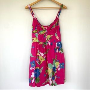 Hollister mini dress in a bright floral cotton